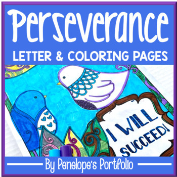 Perseverance Activity:  Perseverance Coloring Pages