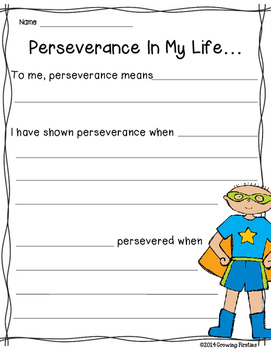Perseverance - Freebie - Growth Mindset