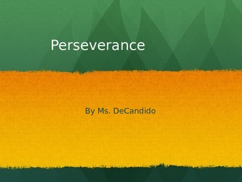 Perseverance PPT