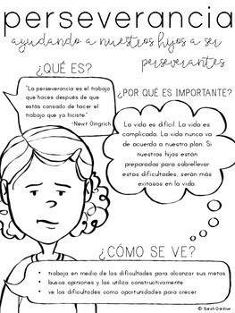 Perseverance Parent Letter - SPANISH