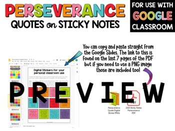 Perseverance Quotes on Sticky Notes