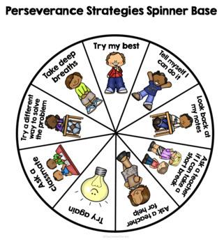 Perseverance Strategies Spinner - Free!
