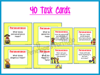 Perseverance Task Cards - Character Education