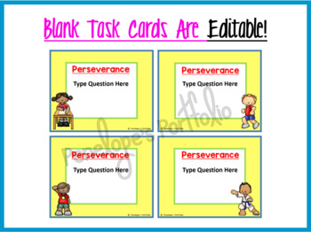 Perseverance Activity:  Social Skills Task Cards