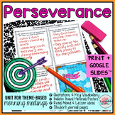 Perseverance Activities | Perseverance Morning Meeting Theme in Literature