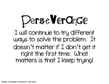 Perseverance in Problem Solving Poster