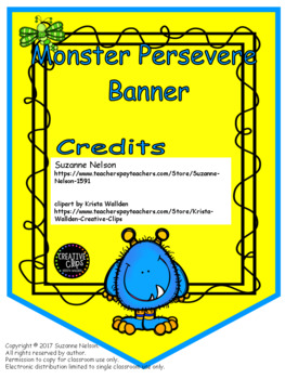 Persevere Banner Bright Monsters