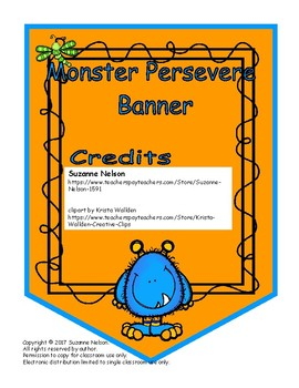 Persevere Banner Monsters