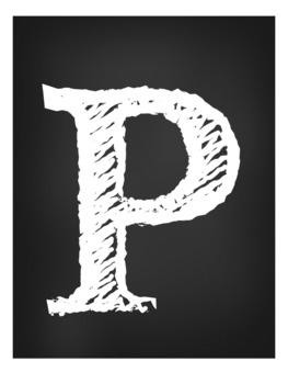 Persevere Chalk Board Black