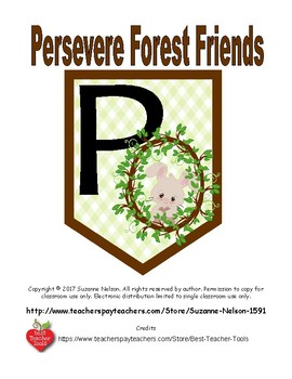 Persevere Forest Friends Bunnies