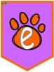 Persevere Paws Purple and Orange