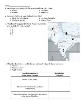 Persia, India, China Test - World History, WHI.4