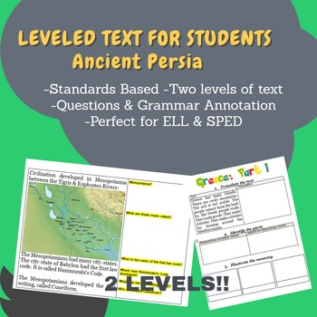 Persia Leveled Text for ELL & SPED