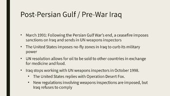 Persian Guld War PowerPoint, Guided Notes, and Completed Notes