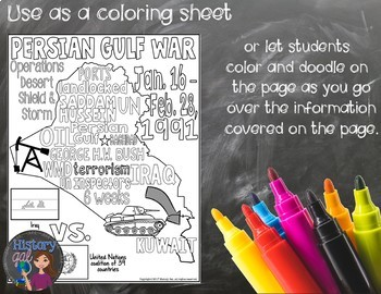 Persian Gulf War Review Page and PowerPoint