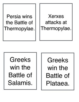 Persian War Sequencing Quiz