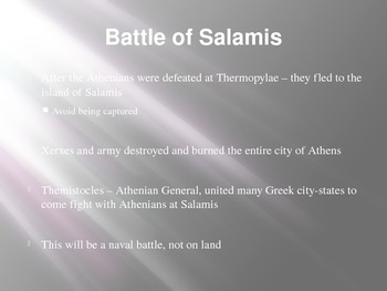 Persian Wars - Battle of Salamis - Battle of Platae