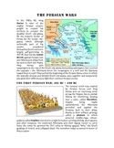 Persian Wars Reading, Worksheet, and Illustrated Timeline Activity
