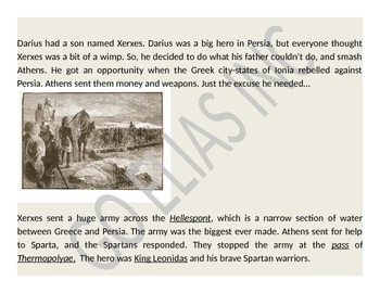 Greek Wars: Persian and Peloponnesean Wars (Reading & Activity)