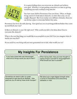Persistence Lesson