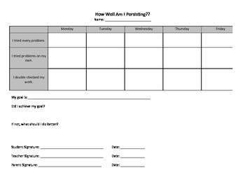 Persistence Student Tracker