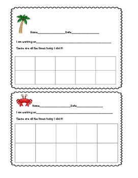 Responsibility/Goal Setting Persistence,optimism card beach themed