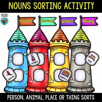 Person, Animal, Thing, Place - Noun Sorts
