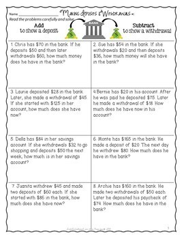 Personal Finance - Financial Literacy and Money Unit FREEBIE