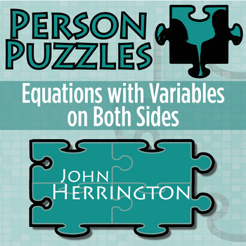 Person Puzzle - Equations w/ Variables on Both Sides - John ...