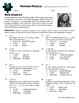 Person Puzzle -- Graphing Quadratic Functions - Bob Marley Worksheet