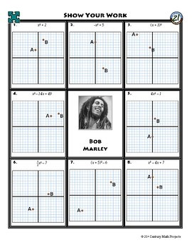 person puzzle graphing quadratic functions bob marley worksheet - Graphing Quadratic Functions Worksheet