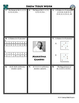 Person Puzzle - Relations - Mahatma Gandhi Worksheet
