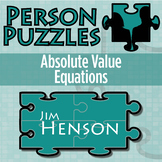 Person Puzzle - Absolute Value Equations - Jim Henson Worksheet