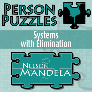 Worksheets Elimination Worksheet person puzzle systems wi by 21st century math projects with elimination nelson mandela worksheet