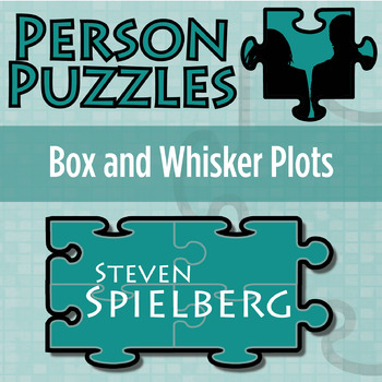 Person Puzzle Box And Whisker Plots Steven Spielberg Worksheet