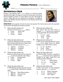 Person Puzzle - Circle Properties - Eufrosina Cruz