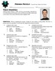 Person Puzzle - Classifying Conic Sections - Tony Horton Worksheet