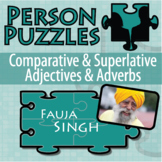 Person Puzzle - Comparative and Superlative Adjectives and Adverbs - Fauja Singh