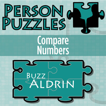Person Puzzle -- Comparing Two Numbers - Buzz Aldrin Worksheet