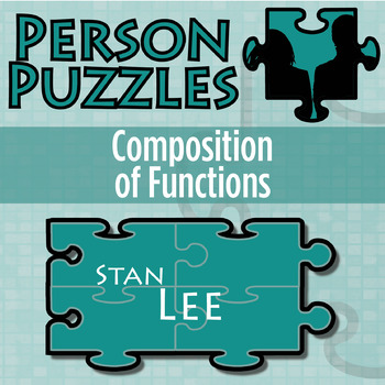 Person Puzzle Composition Of Functions Stan Lee Worksheet Tpt