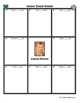 Person Puzzle - Convert Units of Length - Abner Peeler Worksheet