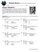 Person Puzzle - Even or Odd Arithmetic Rules - John F. Kennedy Worksheet