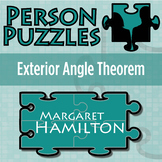 Person Puzzle - Exterior Angle Theorem - Margaret Hamilton Worksheet