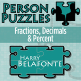 Person Puzzle - Fractions, Decimals and Percents - Harry Belafonte Worksheet