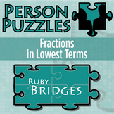 Person Puzzle - Fractions in Lowest Terms - Ruby Bridges Worksheet