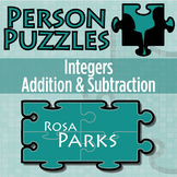 Person Puzzle - Integer Addition & Subtraction - Rosa Parks