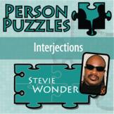 Person Puzzle - Interjections - Stevie Wonder