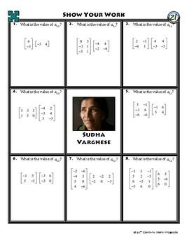 Person Puzzle - Matrix Multiplication - Sudha Varghese Worksheet