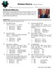 Person Puzzle - Percent Change - Barack Obama Worksheet