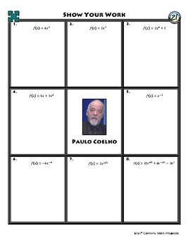 Person Puzzle - Power Rule - Paulo Coelho Worksheet